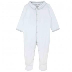 Baby Boy Pyjama with grey hedgehog embroidery