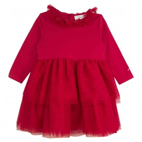 Robe ballet en tulle rouge