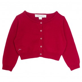 Girl cropped cardigan in Red
