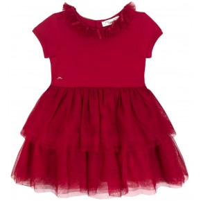 Girl Ballet Dress in Red Tulle