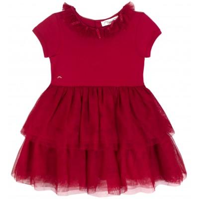 Girl Ballet Dress in Red Tulle
