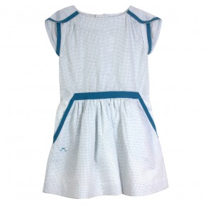 Dress with Stripes in Turquoise