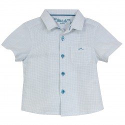 Boy Shirt Stripes in Turquoise