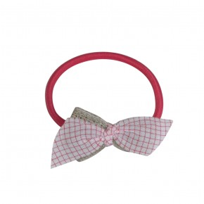 Hair Elastic with contrasted bow coral