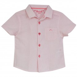 Boy Shirt Stripes in Coral
