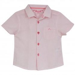 Boy Shirt Stripes in Coral
