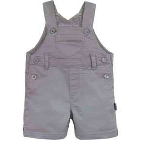 Unisex Grey Baby Overall