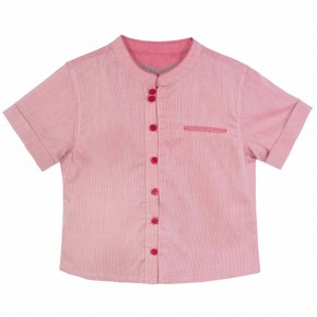 Boy Mandarin Collar Shirt