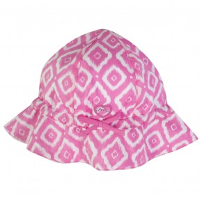 Girl Fuschia Hat with Diamond Prints