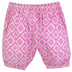 Girl Fuschia Bloomers with Diamond Prints
