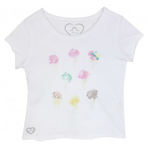 Girl T-shirt with Ice Cream Prints