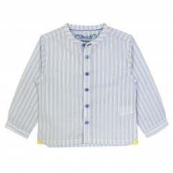 Boy Long Sleeves Shirt with Yellow Stripes
