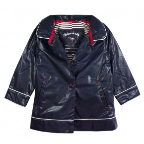 Girl Raincoat Navy