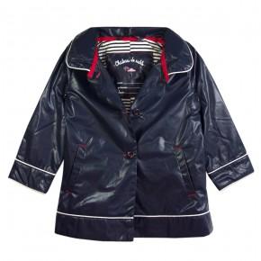 Girl Raincoat Navy