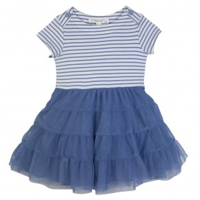Girl Marine Dress in Blue