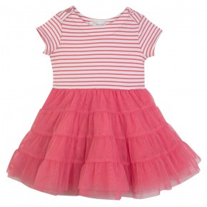 Girl Marine Dress in Coral