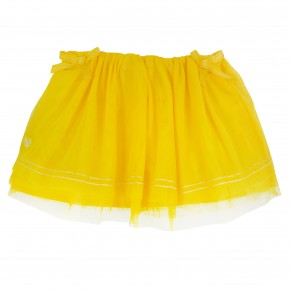 Girl Skirt in Yellow Mesh