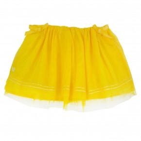 Girl Skirt in Yellow Mesh