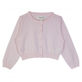 Girl Cropped Cardigan in Pink