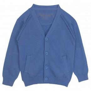Boy Cardigan V Collar in Blue