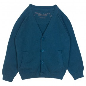 Boy Cardigan V Collar in Turquoise