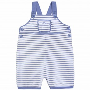 Baby Boy Stripes Overalls in Blue