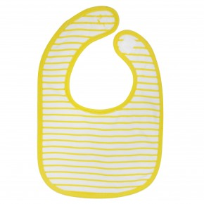 Baby Boy Striped Bib in Yellow
