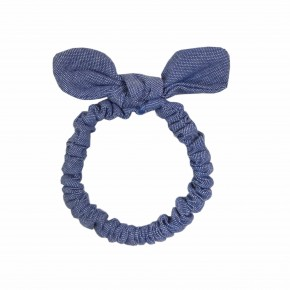 Girl Blue Hair Elastic with Bow