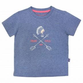 T-shirt Garçon Indigo avec Imprimé