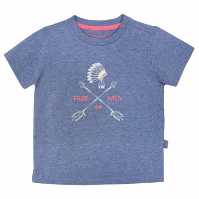 Boy Printed T-shirt in Indigo