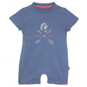 Baby Boy Printed Rompersuit in Indigo