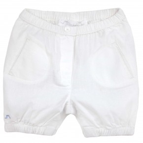 Baby Boy Bloomers in White