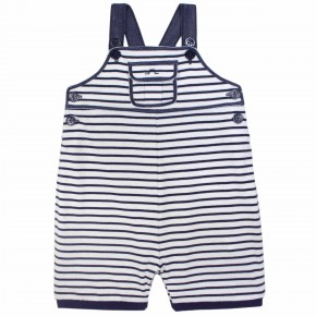 Baby Boy Stripes Overalls in Navy