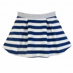 Navy Stripes Skirt