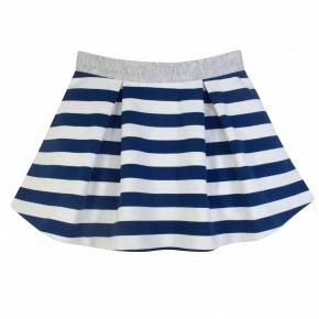 Navy Stripes Skirt