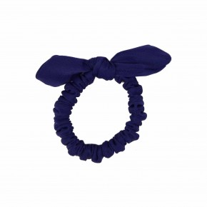 Girls Navy Scrunchies with Bow.