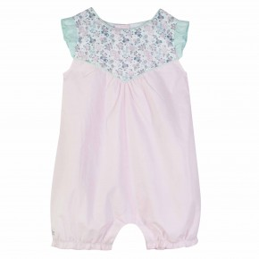 Baby girl Pink Liberty rompersuit