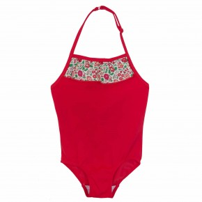 Girls Red Liberty Swimsuit