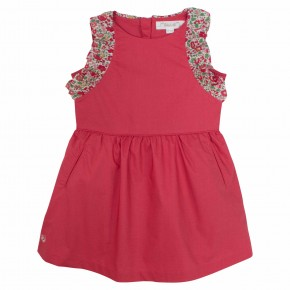 Girls red liberty dress