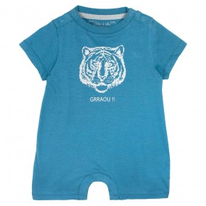 Baby boy rompersuit with tiger print