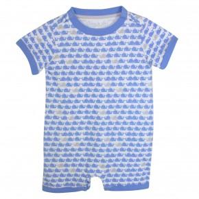 Baby Boy Rompersuit Light Blue Whale Print