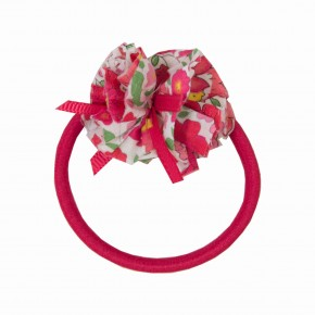 Girls Red Hair elastic with liberty pompom