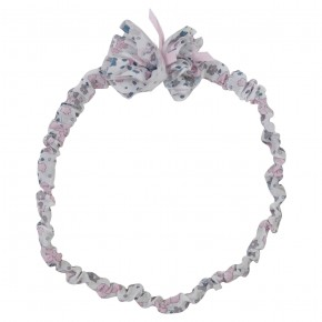 Baby Girl headband in Liberty with pompom