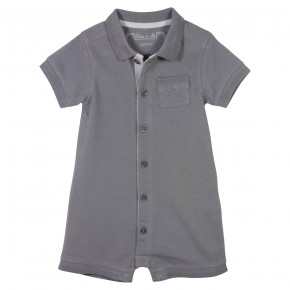 Baby Boy Grey Rompersuit