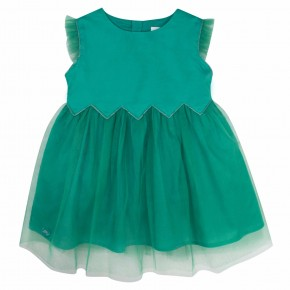 Green Girls Party Dress