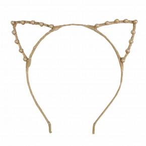 Cat ear champagne hairband