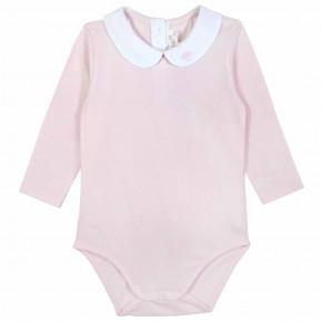 Bodie bébé fille rose avec nuage brodé