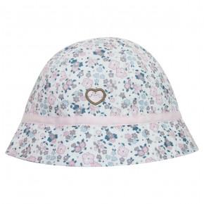 Chapeau bébé fille en Liberty rose