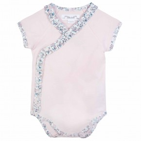 Baby Girl Pink Liberty Bodysuit