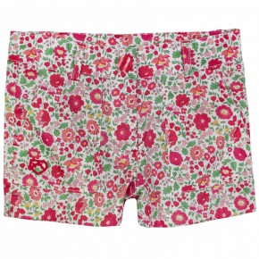 Girls Red Floral Liberty Print Shorts